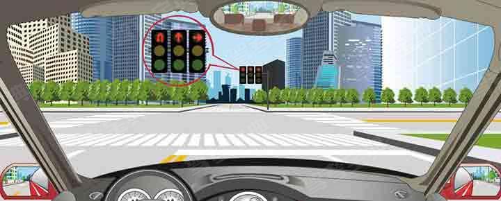 駕駛機動車在這個路口可以沿掉頭車道直接掉頭。