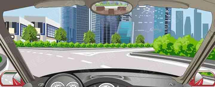 驾驶机动车驶出这个环岛路口怎样使用灯光?