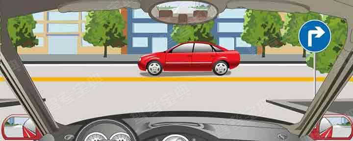 右侧标志表示只能车辆向右转弯。