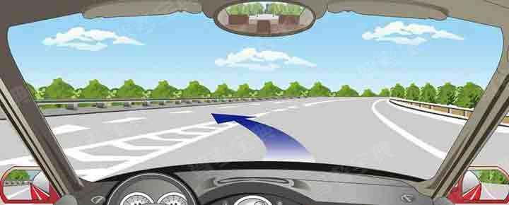 允许沿着图中箭头方向驶入高速公路行车道。