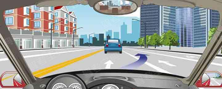 路面同向车行道分界线指示允许跨越变换车道。