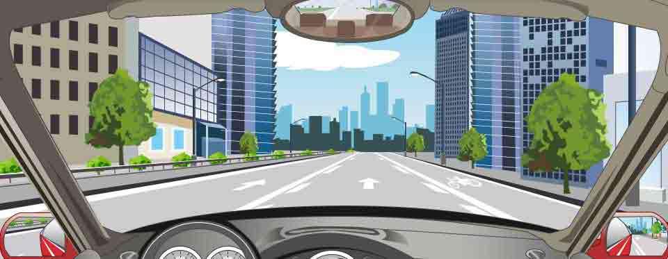 路面菱形块虚线警告前方道路要减速慢行。