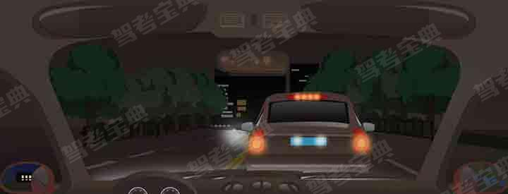 夜间在这种道路条件怎样跟车行驶?